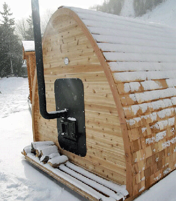Outdoor Pod Sauna